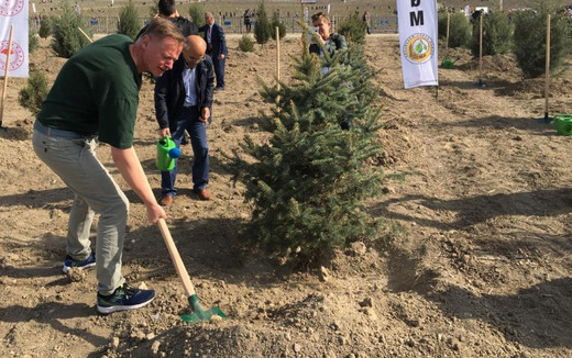 Suomen suurlähetystö osallistui puiden istutustapahtumaan
